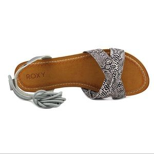Roxy Tel Aviv Open Toe Snake Gladiator Sandals